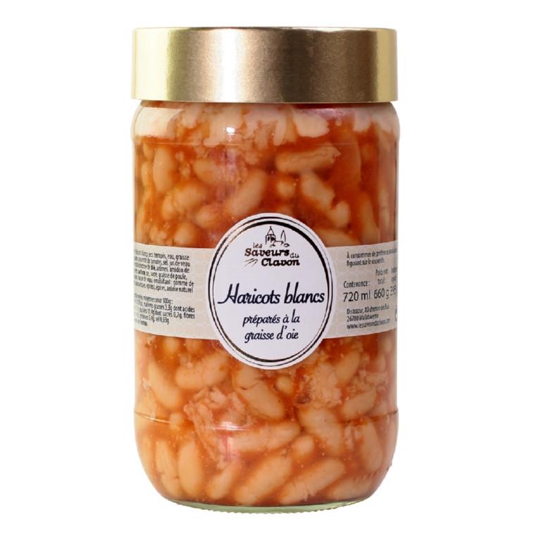 haricots lingots tomate et graisse d'oie 720ml