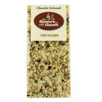 chocolat blanc pistache 110g