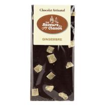 chocolat noir gingembre 110g