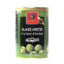 Olives Vertes Farcies à la Crème d'Anchois bt 1/4
