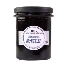 CONFITURE EXTRA aux MYRTILLES - MARIUS ET MANON - 230 Gr